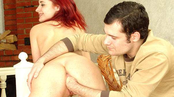 Fiesty Redhead Euro Teen Fisted By Her Boyfriend.